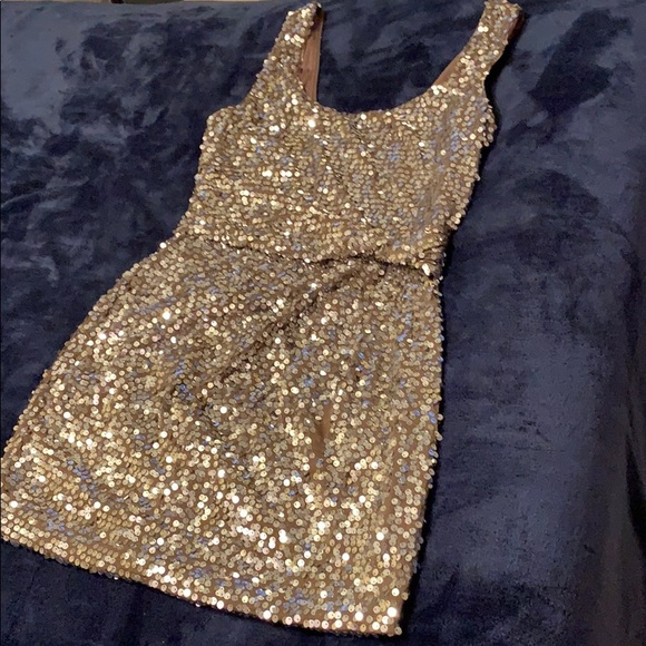 Love Reign Dresses & Skirts - Brown sequin dress